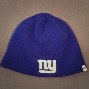 NY Giants beanie hat